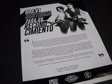 Carlos Vives Bogotas 15 de Mayo de 2014 Promo Poster Ad mint condition