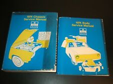 1974 CHRYSLER PLYMOUTH IMPERIAL CHASSIS & BODY SERVICE CAR MANUAL LOT OF 2