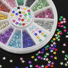 Nail Art 3D Glitter Rhinestone Decoration Gems, Mixed Colour Stars, New