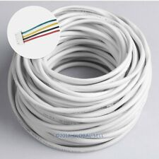 5 Core 30m 0.5mm² White Flexible Copper Cable For Video Door Intercom System