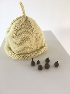 Baby Hat For Newborn Hand knitted In 100% Cotton