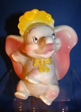 DISNEY'S EVAN K. SHAW/AMERICAN POTTERY DUMBO WITH YELLOW BABY BONNET - ADORABLE!