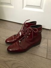 Oxblood Leather Russell & Bromley Ankle Boots Size 4.5