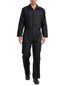 TOPTIE Men's Long Sleeve Coverall, Snap and Zip-Front Coverall