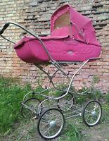 CARRIAGE BABY PINK  VINTAGE ORIGINAL SOVIET USSR