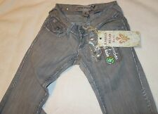New Laguna Beach Jeans Long Beach Straight Leg pants Fleur De Lis sz 25