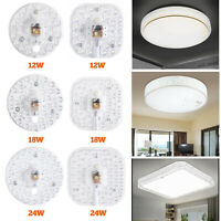 Round Ceiling Panel 12W/18W/24W LED Light Bulb Replace PCB Board Lamp Source