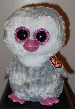 """Ty Beanie Boos ~ OLIVE the 8-9"""" Penguin Buddy Size ~Claires Exclusive~ 2016 NEW"""