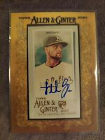 2020 Topps Allen & Ginter Seth Brown Oakland A's Gold Framed Mini Rookie Auto 💎