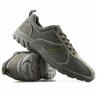 Mens New Casual Canvas Lace Up Walking Hiking Running Summer Trainers Shoes Size