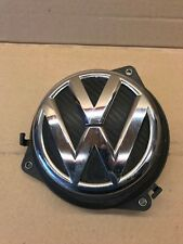 VW POLO 6R REAR BOOT TRUNK TAILGATE OPEN HANDLE CARBON BADGE 6R6827469