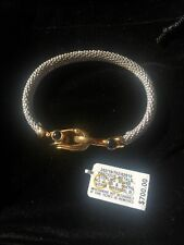 R. H. Macy and Co. Quartz Sterling Silver 14K Gold Bracelet $700 Free Shipping