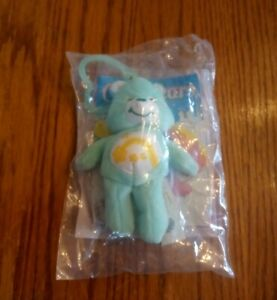 "Care Bear | 2005 Burger King 4.5"" Plush | Wish Bear | Clip On Toy |  Mint Green"