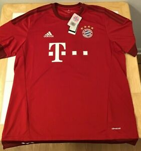 Bayern Munich Home Adidas Jersey 2015/16 Red XL Lahm #21 Climacool New with Tags