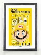 Super Mario Maker poster print