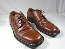 Men's Used Johnston Murphy 9 m Brown Lace Ups Made in Italy