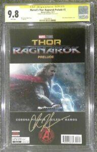 Marvel's Thor: Ragnarok Prelude #3__CGC 9.8 SS__Signed by Chris Hemsworth