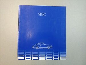 NICE ORIGINAL VINTAGE PORSCHE 911SC LIGHT BLUE COLOR SALES BROCHURE 1982