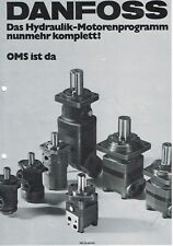 Danfoss Hydraulik- Motorenprogramm, orig. Prospekt 1976