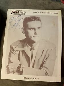 George Jones Signed Autographed The Flame Theatre Photo