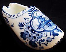 Vintage DELFT-BLUE Handpainted Floral Design Clog Ashtray Holland A02
