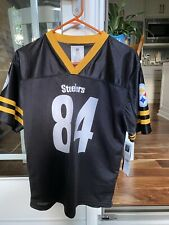 #84 Antonio Brown Pittsburgh Steelers Football Jersey Youth Large Black