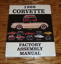 1968 Chevrolet Corvette Factory Assembly Manual 68 Chevy