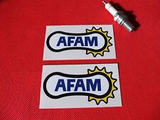 Pair of Afam chain sponsor stickers