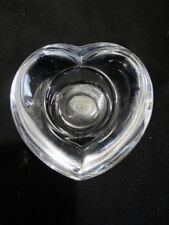 Orrefors - Scandinavian Crystal - Heart Shape Candle Holder