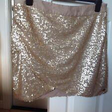 House of Derlon Gold Sequin Mini Skirt Size XL  - Very Good Condition