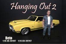 BETO FIGURE AMERICAN DIORAMA 38187 1/18 DIECAST CAR