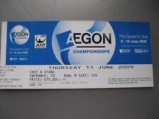AEGON CHAMPIONSHIPS  QUEENS CLUB  UNUSED TICKET  11/06/2009