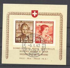 Switzerland, 1941 Pro Juventute Souvenir Sheet, used,  superb,