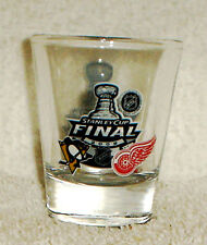 DETROIT RED WINGS vs PITTSBURGH PENGUINS 2009 STANLEY CUP finals SHOT GLASS