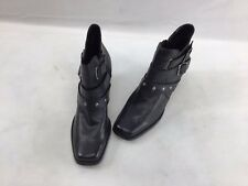 Harley Davidson Black Leather Buckle Ankle Boots Size 11M  F2642/