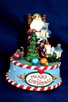CHRISTMAS SANTA MUSICAL FIGURINE plays Santa Claus is coming to town excellent