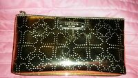 Authentic Gold With Perforated Hearts Design Kate Spade Medium Size Cosmetic Bag