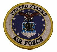 USAF AIR FORCE OFFICIAL LOGO SEAL PATCH MILITARY SERVICE AIRMAN VETERAN