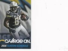 San Diego Chargers NFL Mini Pocket Schedule 2016 Antonio Gates