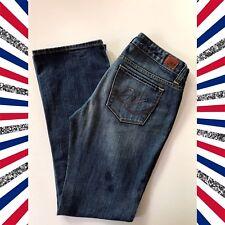 Express X2 Jeans Size 6 Womens Slim W10 Regular Low Rise Boot Cut Blue
