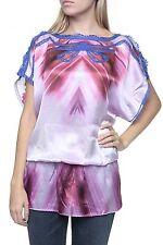 Hüftlang Damenblusen,-Tops & -Shirts im Tuniken-Stil mit Flügelärmel-Ärmelart für Freizeit