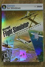 Microsoft Flight Simulator X Deluxe Edition (PC, 2006) W/Box/Slip Cover/Manuals