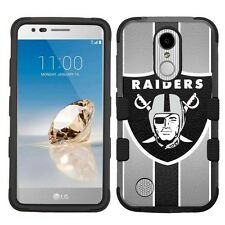 For LG Aristo LV3 Hard Impact Armor Hybrid Case Oakland Raiders #S