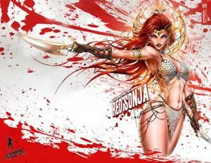 Invincible Red Sonja 1 Tyndall Wrap Trade Variant Cover Lim/200 Signed/Cert   NM