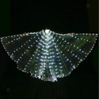 LED Isis Wings Glow Light Up Belly Dance Costume with Sticks for Performance
