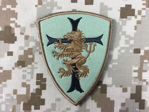 Warrior Devgru Lion Red Cross Crusader Shield Patch (Green) WR-PT01A