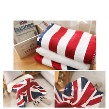UK British Flag Pattern ENGLAND UNION JACK Blanket Sofa Bed Fleece Throw&Blanket