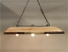 Country Chandelier Light Fixture Farm Pine Kitchen Counter Top Ceiling