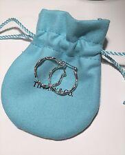 Tiffany & Co. Paloma Picasso Sterling Silver Zig Zag Hoop Earrings