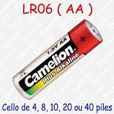 Pile Alcaline Plus AA LR06 LR6 R6 MN1500 AM3 E91 Mignon 1,5V : x 1 4 8 10 20 40